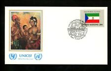 UN United Nations FDC NY #353 UNICEF Cachet Flag Series Equatorial Guinea 1981