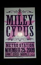MILEY CYRUS Sommet Center 2009 HATCH SHOW PRINT Nashville Tour Band Poster