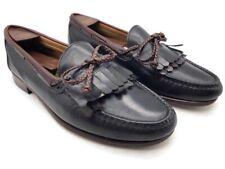 Allen Edmonds Mens Woodstock Kiltie Loafers Black Brown Leather Slip On 10 D
