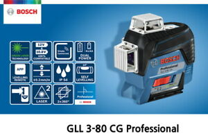 Bosch GLL 3-80 CG Self Level *Green* 30m 3x360° ±0.2mm 4xAA/10.8V IP54 Bluetooth