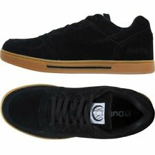 DuFFS MENS KCK BLACK SUEDE GUM SOLED SHOES LOW PROFILE SUEDE TRAINERS SIZE 7 NEW