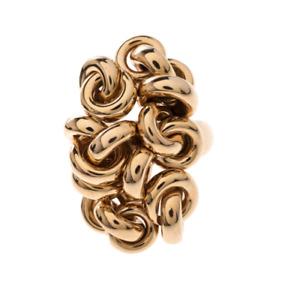 De Grisogono Interlocking Circles 18k Rose Gold Cocktail Ring Size N - 54