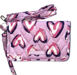 Vera Bradley RFID 3-IN-1 Crossbody HEARTS ICED PINK Wallet Wristlet