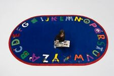 Educational Rug For Schools - Day Care - Kids Room. 5' x 8' ALPHA WITH ATTITUDE.