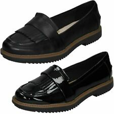 Ladies Clarks 'Raisie Theresa' Smart Slip On Shoes - D Fitting