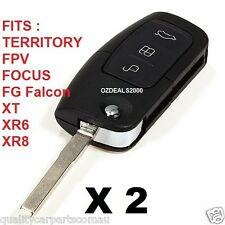 FORD 3 Button Remote & Flip Key BA FG Falcon XT XR6 XR8 Focus Territory ETC X 2