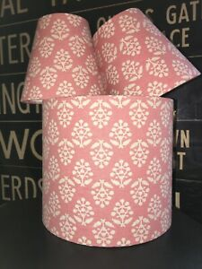 MADE TO ORDER LAMPSHADE SUSIE WATSON ROSE 'SPRIG' FABRIC ROSE PINK