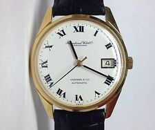 TIFFANY & CO. SCHAFFHAUSEN INTERNATIONAL WATCH CO AUTOMATIC 18K YELLOW GOLD