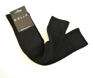 b.ella Ladies Wool Cashmere Angora Blend Knee Socks Bette Black - NEW