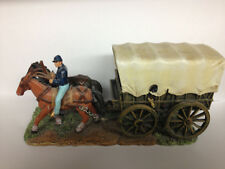 UNION SOLDIER HORSES AND COVERED WAGON HAND PAINTED METAL SOLDIERS CIVIL WAR NEW