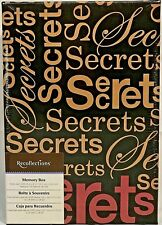 RARE Recollections SECRETS KEEPSAKE MEMORY Storage Shoe Photo BOX NEW