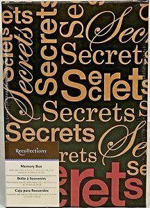 RARE Recollections SECRETS KEEPSAKE MEMORY Storage Shoe Photo BOX NEW