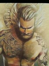 ORIGINAL Gay Male Interest Acrylic/Mixed Media Painting-