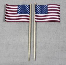 Party-Picker USA 50 Stk. Dekopicker Profiqualität Papierfähnchen Flagge Food