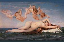 BIRTH OF VENUS OCEAN NUDE WOMAN SURF GODDESS WAVE SURFER CUPID MERMAID ART PHOTO