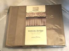 Martha Stewart Woven Stripe Full Bed Skirt Hazelnut tone-on-tone Stripe