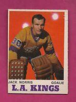 1970-71 OPC  # 165 KINGS JACK NORRIS ROOKIE VG CARD (INV# A4767)