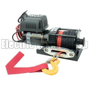 Warrior Ninja 2000lb 12v Electric Winch,Synthetic Rope, ATV,Utility,Boat,New