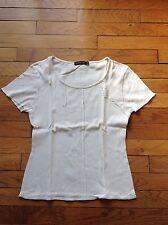 T-shirt écru uni Diplodocus Taille 2 manches courtes encolure ronde