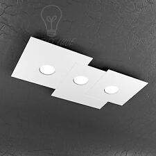 PLAFONIERA TOP LIGHT MODELLO PLATE 1129/PL3R-BI LED GX53 27W LUCE FREDDA INCLUSO
