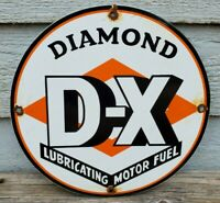 VINTAGE DIAMOND DX GASOLINE PORCELAIN SIGN GAS OIL METAL SERVICE STATION PUMP
