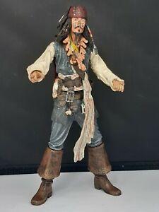 "Disney Pirates of the Caribbean CAPTAIN JACK SPARROW 7"" NECA Figure 2004"