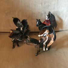 Papo Schleich Baylaya Dark Fairies With Horses Lot