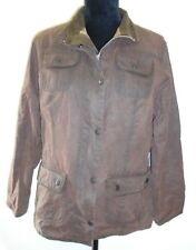Ladies Barbour L1094 Ladies Utility Jacket Waxed Cotton UK 16 Euro 42 in brown