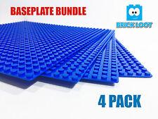 4 lot 10'' x 10'' Brick Base plate 32 x 32 Blue Baseplate fits LEGO & Others