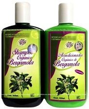 Shampoo & Conditioner Organico BERGAMOTA Natural Bergamot Stop Hair Loss 15.21oz