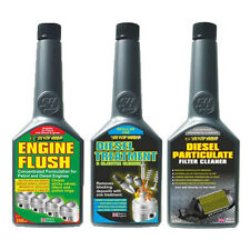 3 Pack ENGINE FLUSH + DIESEL INJECTOR TREATMENT + PARTICULATE FILTER CLEANER DPF