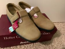 NEW Hotter Comfort Concept Shoes Sunshine In Honey Nubuck Mary Jane Strap Sz 7W