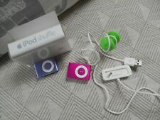 Apple ipod shuffles 2nd gen 1GB pink and purple bundle MB811LL/A Model A1204