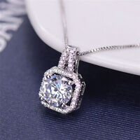 Fashion Crystal Charm Pendant Jewelry Chain Chunky Statement Choker Necklace  TP