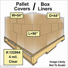 4 mil Pallet Covers / Bin Box Gaylord Liners 54x44x96 Clear Roll/25 122964