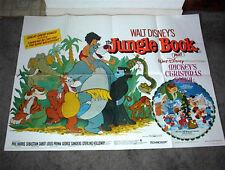 THE JUNGLE BOOK/MICKEY'S CHRISTMAS CAROL original rare DISNEY quad movie poster