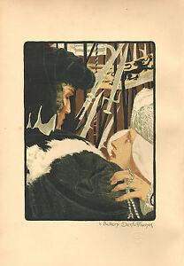 1898 SUPERB ORIGINAL LITHOGRAPH by BELLERY-DESFONTAINES L'Imploration