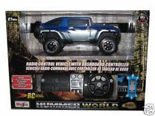 Remote Control Hummer HX RC Car 1:24 Blue/Silver