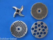 #32 COMBO SET Meat Grinder Plates & Knife Cutter for Weston 08-3201