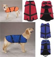 RIPSTOP Blanket Coat VEST Nylon Jacket Fleece lined WARM CHERRY BLUE Small XS