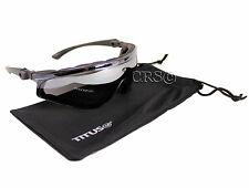 Biker Motorcycle Riding Sun Glasses Adjustable Arm Stem Tilting Mirror Padded