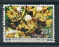 COMORES - 1977, timbre TAXE n° 11, FLEURS, ORCHIDEE, oblitéré