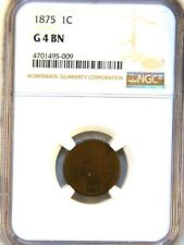1875 Indian Head Cent NGC G4 BN Nice Patina, PQ for the grade #514F