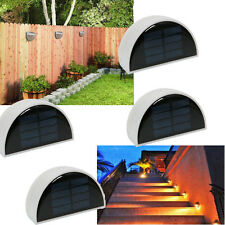 Lot 4x Wall Mounted  6LED Solar Light Gutter Fence Wall Lamp White