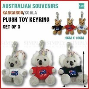 Australian Souvenirs Keyring Kangaroo Koala Plush Toy chain Handbag Aussie Gift