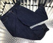 Diva Blue Jeans Women Vintage Denim Genie Harem Pants Elastic & Snap Leg Details