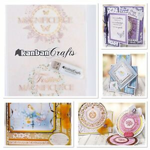 USB Kanban Magnificence Double Collection Card making, Toppers, Backgrounds Etc