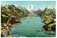 Brunnen on Lake Lucerne Switzerland Postcard