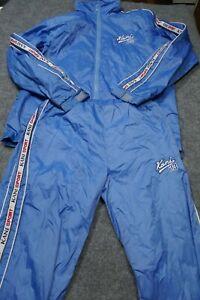 VTG Karl Kani Track Suit Adult Medium Blue Logo Nylon Blend Casual Hip Hop Mens