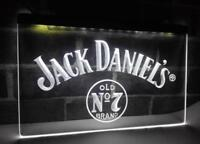 Jack Daniels White Neon Light Sign Bar Pub Man Cave UK STOCK